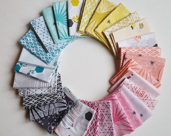 PREORDER - Palm Canyon by Violet Craft Pink Full Collection Bundle Fat Quarters, Half Yards or 1 Yard Arrives March 2018