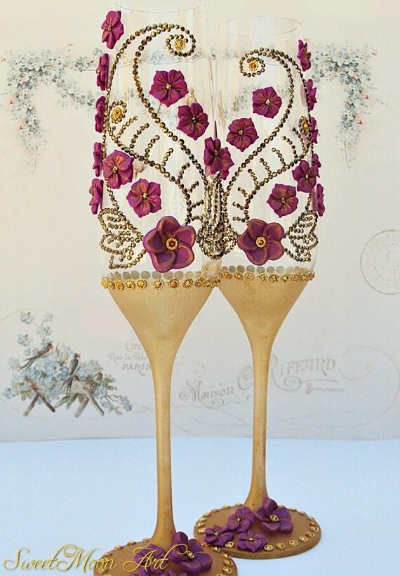 Flautas para boda copas decoradas copas para boda flautas - Copas decoradas con velas ...