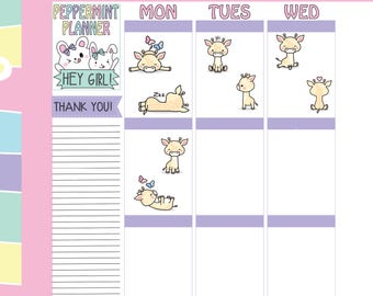 Cute Little Giraffe Planner Stickers --- #263