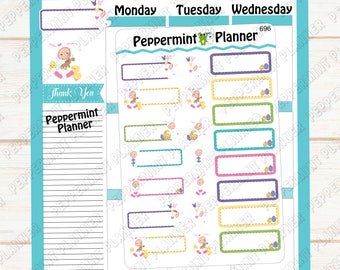 Sweet Baby Bunny --- Planner Stickers --- 696