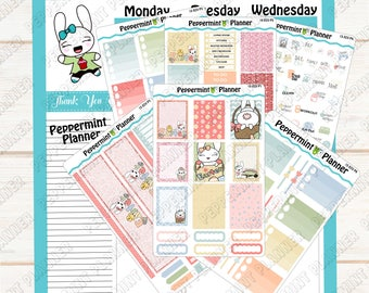 Jelly Bean, Lilly Pad, Or Widget's Weekly Easter Kit --- Planner Stickers --- Will fit in your Erin Condren Vertical Planner --- ECV