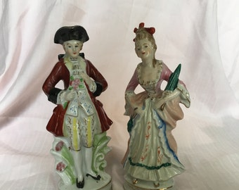 Vintage Victorian Style Figurines Made in Japan