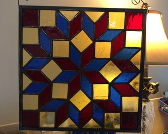 Carpenter's Square in Stained Glass