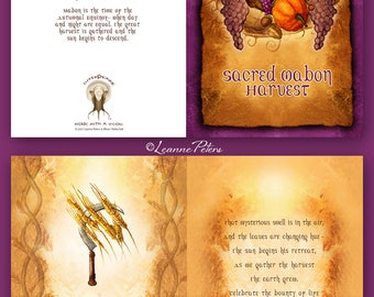 Mabon - High Holiday - Sabbat Card - Harvest