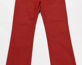 Marina Yachting W33 Tg46/47 red straight leg mens jeans straight fit T1553