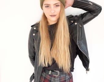 leather biker jacket women's black leather jacket