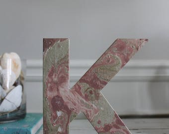 Marble Painted Wooden Initials