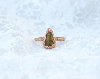 Rainforest Rhyolite | Electroformed Copper Ring