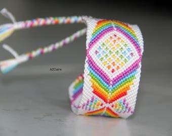Bracelet Brazilian Rainbow and white