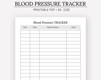Luscious image for printable blood pressure log wallet size