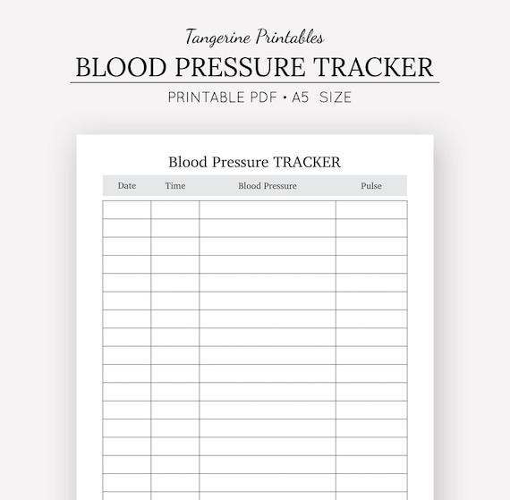 blood pressure logs template