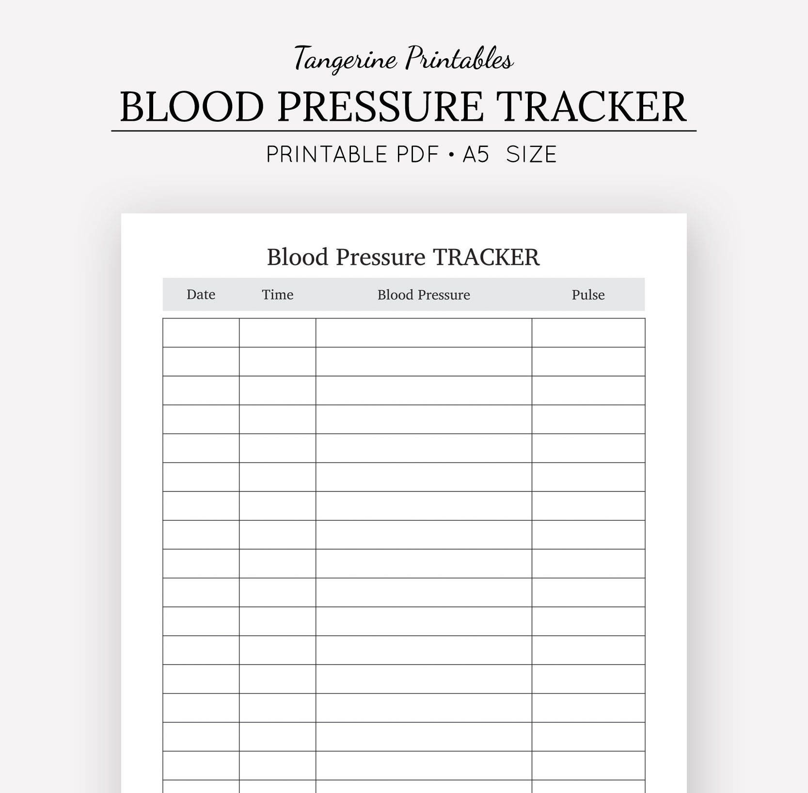 blood pressure excel template