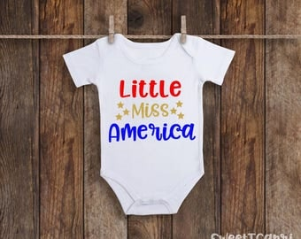 Baby Girl Clothes, Baby Girl Onesie, 4th Of July Baby Girl, 4th Of July Onesie, Baby Onesie, 4th Of July Outfit,  Baby's First 4th, Baby
