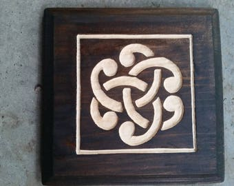 Hidden Celtic Trinity Knot Wall Plaque