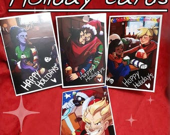 Overwatch Holiday cards