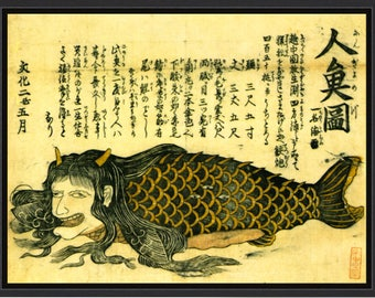 Magical Ninyo Japanese Mermaid Print