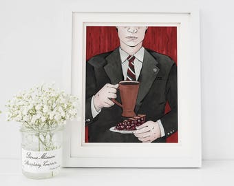 "8"" × 10"" Agent Cooper Twin Peaks Fine Art Paper Giclee Print"