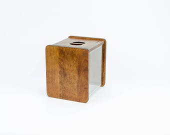 Rare bidon variée conçue par André Morin, bois bidon, bidon acrylique