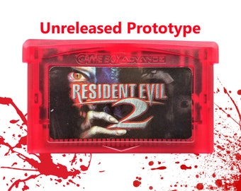 Resident Evil 2 GBA Unreleased Prototype Tech Demo - Nintendo Gameboy US Seller - Customized Blood Red Shell