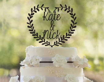 Personalized wedding cake topper, anniversary cake topper,custom wedding cake topper,Bride and Groom Wedding Cake Topper, custom cake topper
