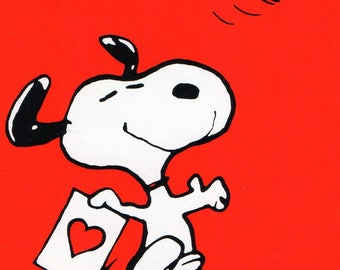 Snoopy Cards | Etsy   Peanuts Valentine