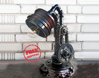 Etsy gifts edison light edison lamp industrial vintage lamp industrial style rustic lamp metal lamp pipe lamp steampunk lamps loft decor