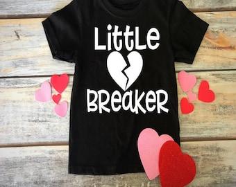 Heart Breaker Tee- Valentines Day Toddler Shirt- Heart Breaker Shirt- Little Heart Breaker- Valentines Day Gift- February Birthday Shirt