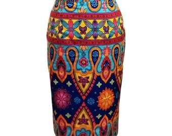 African print skirt, Ankara skirt, pencil skirt, African clothing for women,robe wax