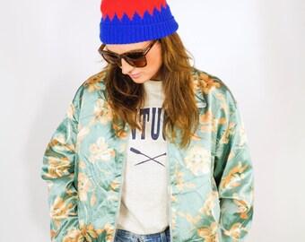 Vintage 90s floral bomber jacket  (UK 8 - 10)