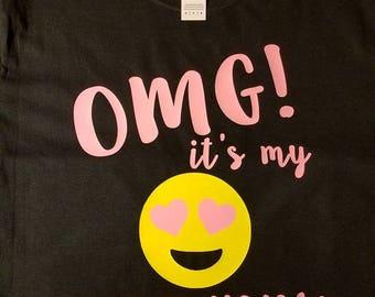 Emoji Birthday Shirt, Emoji Shirt, Birthday Shirt, Emoji Birthday, Kids Birthday Shirt, Smilie Face, Happy Face, Fun Birthday Shirt