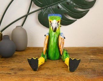 The Parrot - hinged wooden statue