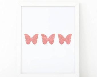 Butterflies print, Printable Nursery Art, Baby Girl Nursery Prints, Butterfly print, Pink Gold, Kids Wall Art, printable art, wall art print