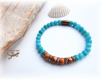 Bracelet Aquamarine Jasper