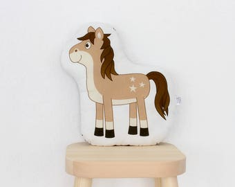little horse - Schnuppe - plush stuffed animal pillow kids room nursery