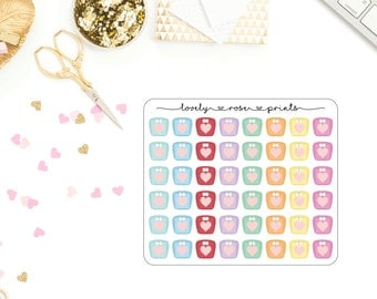 Vintage Scales Functional Planner Stickers