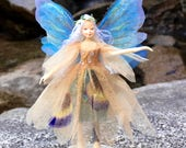 """Fae Folk® Fairies - JUPITER - Woodland Fairy. Bendable, posable 5"""" soft doll can sit, stand, or hang."""