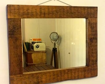 Rustic Reclaimed Wooden Mirror