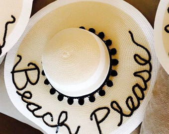 CUSTOMIZABLE** Sun Hat with Black Accents