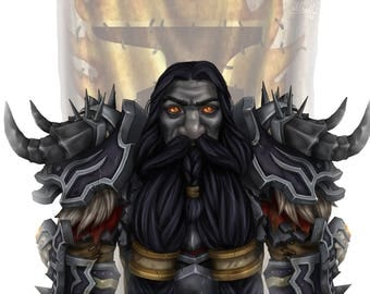 CUSTOM/PERSONALIZED World of Warcraft Portrait Digital
