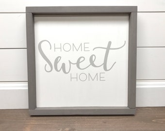 Wood Sign | Home Sweet Home |  Farmhouse Sign |