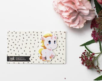 bookmarkers - unicorn - magnetic bookmark || rainbow, kawaii, cute planner clips, bookish, unicorn birthday, unique bookmarks, literary gift