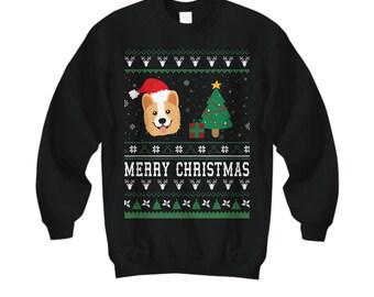 Merry Christmas Corgi, Corgi Gifts, Corgi Sweatshirt, Corgi Sweater, Corgi Shirt, Corgi Christmas Sweater, Dog Christmas, Corgi Lover