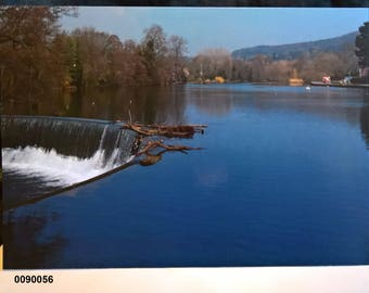Belper River Gardens Weir - Greeting Card