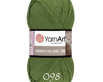 YarnArt wool yarn MERINO DE LUXE 50 wool yarn acrylic wool warm yarn hand knit yarn winter yarn wool yarn soft yarn soft wool