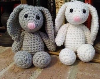 Crochet Bunny | Crochet Stuffed Bunny | Stuffed Bunny | Crochet Animals | Stuffed Animals | Easter Gifts | Easter Basket Fillers | Bunny