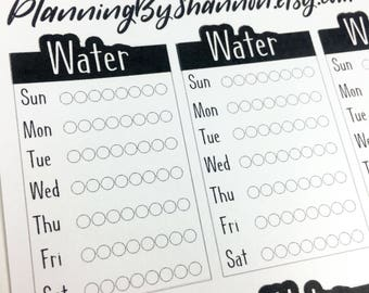 Passion Planner Water Tracker for Classic and Compact!