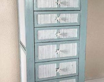 Coastal Jewelry Armoire