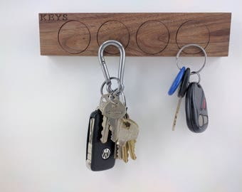 Magnetic Key Holder With Free Personal Engraving, Key Rack, Key Holder for Wall, Key hanger, House Warming Gift, Key Holder