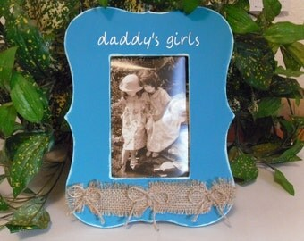 Daddy's girls frame, Dad frame gift, Father's day frame, Gift for dad, Daddy photo frame, picture frame for Dad,  Fathers Day, Birthday gf