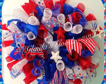 sale 4th july wreath usa wreath america wreath labor day. Black Bedroom Furniture Sets. Home Design Ideas